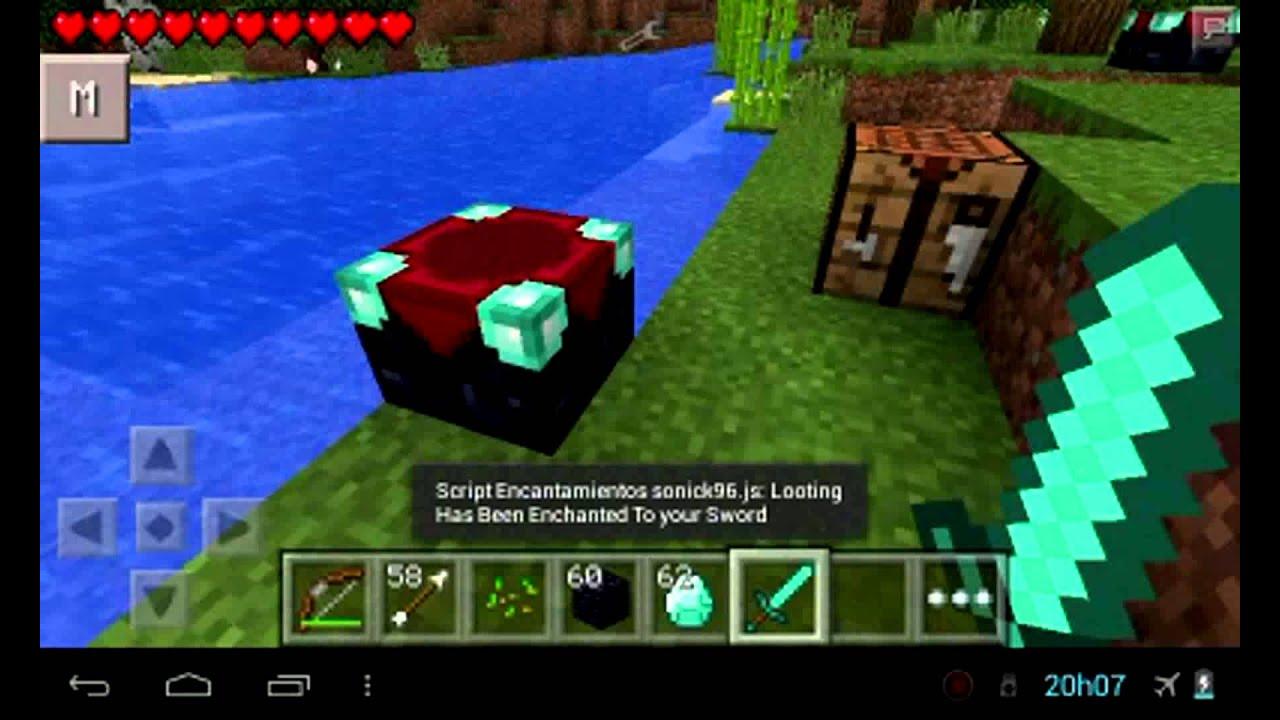 Como Fazer Um Altar De Encantamento Minecraft Pe