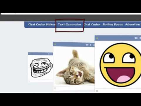 Trick For Facebook Chat  [Text Generator]