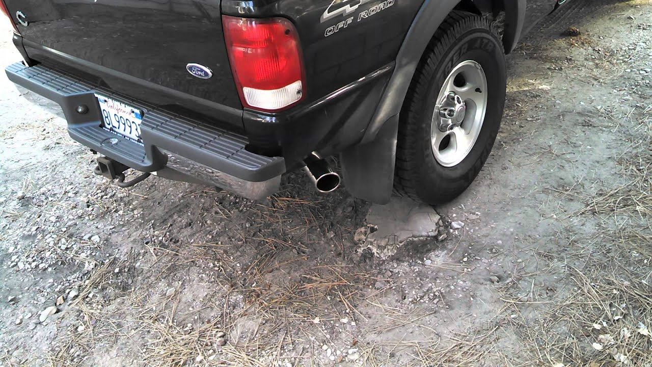 Ford Ranger Exhaust Tip >> 2000 Ford Ranger 4 0 Mrbp Cat Back Exhaust Youtube