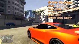 GTA V Modded Paintjob #45 Bride Orange
