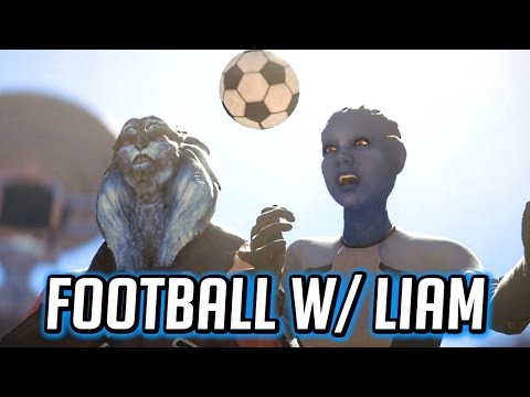 Mass Effect Andromeda ⚽️ Playing Football with Liam
