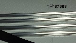 Universal Aluminum & Rubber Garage Door Bottom - 18' #87668