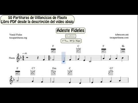 50 Christmas Carol Video Sheet Music for Flute PDF book with Piano ...