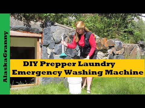 Make a Prepper Clothes Washing Machine DIY