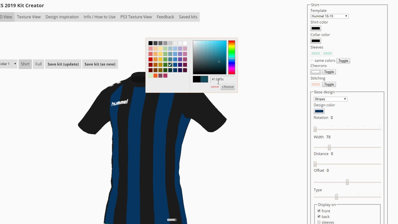 PES 2019 Kit Creator - Update Saved Kits