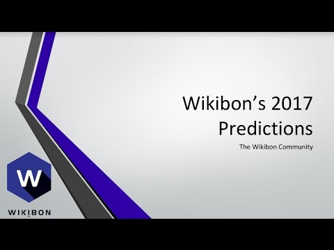 Wikibon 2017 Predictions