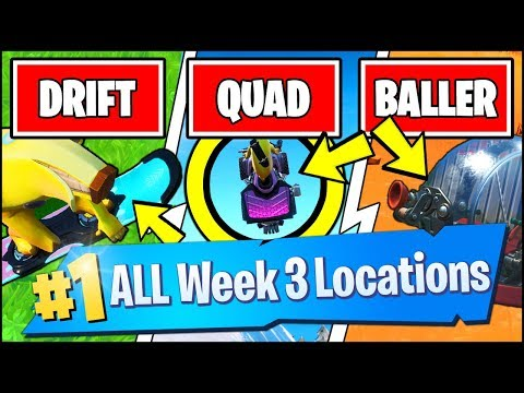 LAND A TRICK WITH A DRIFTBOARD LOCATION, AIRTIME QUADCRASHER (Fortnite Season 9 Week 3 Challenges)