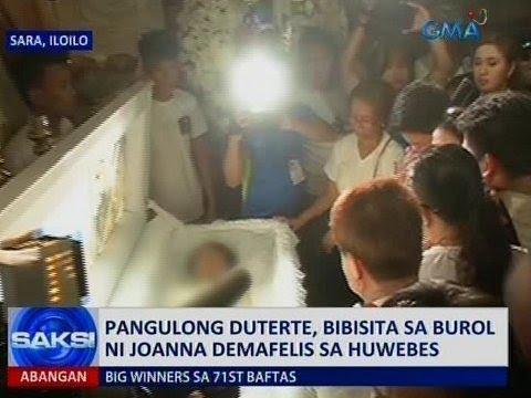 Saksi: Pangulong Duterte, bibisita sa burol ni Joanna Demafelis sa Huwebes