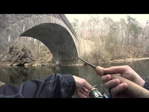 Spinner and powerbait trout fishing at Wissahickon Creek, PA