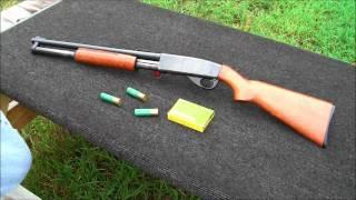 Shooting a S&W 12 Gauge Pump Shotgun..