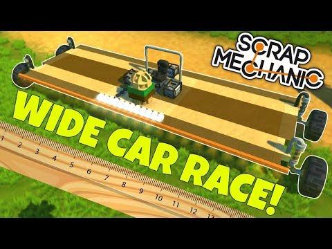 WIDE CAR RACE CHALLENGE! - Scrap Mechanic Challenge Gameplay