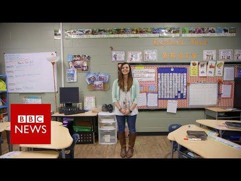 Oklahoma teacher strike: 'I have 29 textbooks for 87 pupils' - BBC News