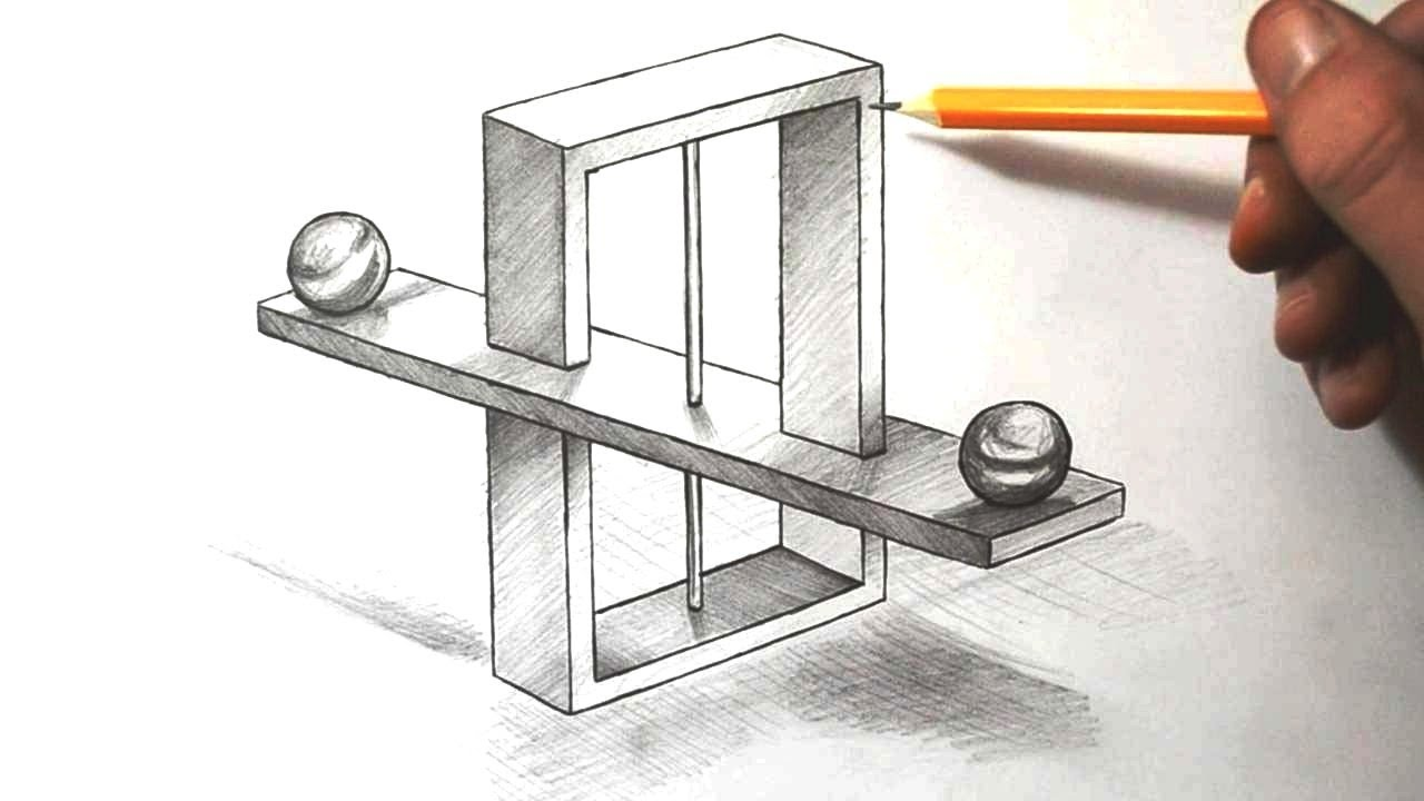 how to draw impossible scales optical illusion youtube. Black Bedroom Furniture Sets. Home Design Ideas