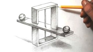 How to Draw Impossible Scales - Optical Illusion