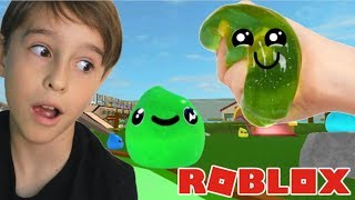 I TURNED A SLIME PLAYING ROBLOX IN THE WORLD OF SLIMES