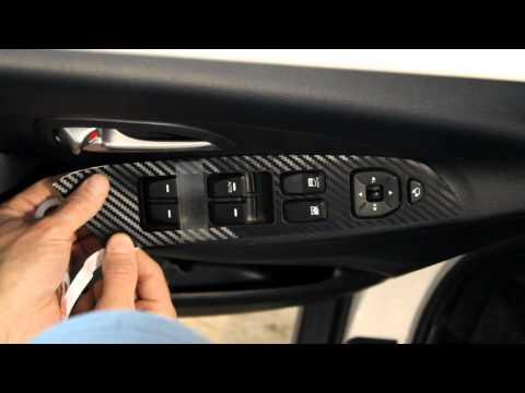 Наклейки на пластиковые вставки управления стеклоподъемником Hyundai ix35