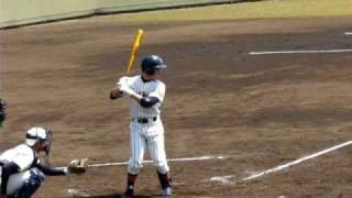 帝京高校 田口 逆転ツーランホームラン(春季東京大会・日大三戦)