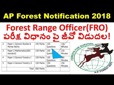 APPSC Forest notification 2018 latest news | Forest range officer exam pattern | appsc jobs 2018