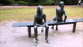 Futari ふたり(朝倉響子 作)仙台市西公園の銅像 2015-07-24