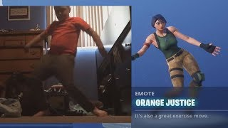 Orange Shirt Kid Emote in Fortnite Season 4