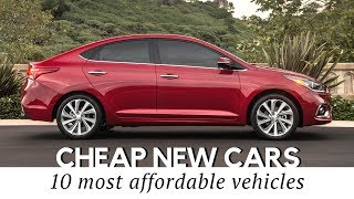 10 Cheapest New Cars on Sale in 2018 Specs and Prices Reviewed