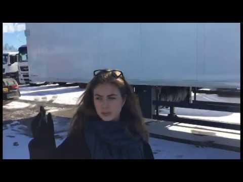 Рефрижератор фура 20 тонн, полуприцеп внутри - YouTube