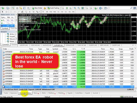 Best forex EA  robot in the world -  Never lose