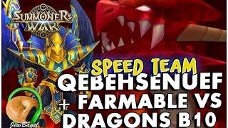 summoners war qebehsenuef the water horus dragons b10 w farmable
