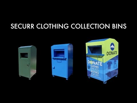 Clothing Collection Bin for Recycling Charity Textile