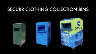 Clothing Collection Bin for Recycling, Charity Textile Donation Recycle Box