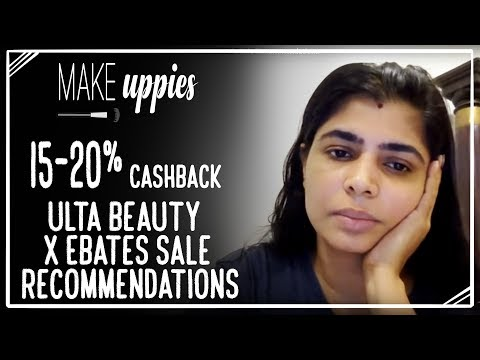 Ulta Beauty x Ebates Cashback 15-20% Sale Recommendations