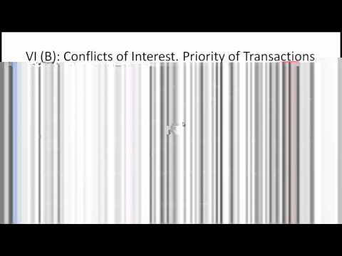 CFA Level I Ethics Standard 6 (Conflict of Interest) Video Lecture by Mr. Arif Irfanullah