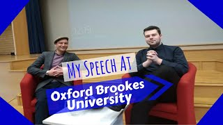 My Speech This Year at Oxford Brookes University! | MaxiAspie