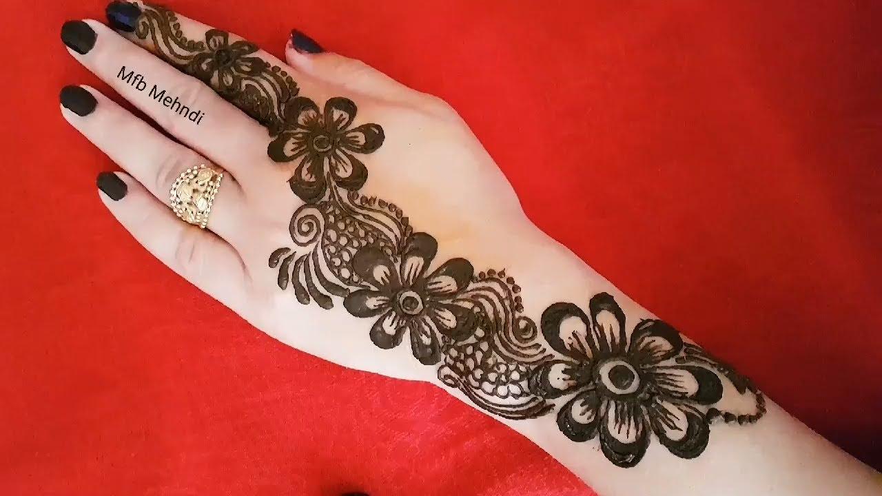 Unique Arabic Mehndi Designs Front Hand
