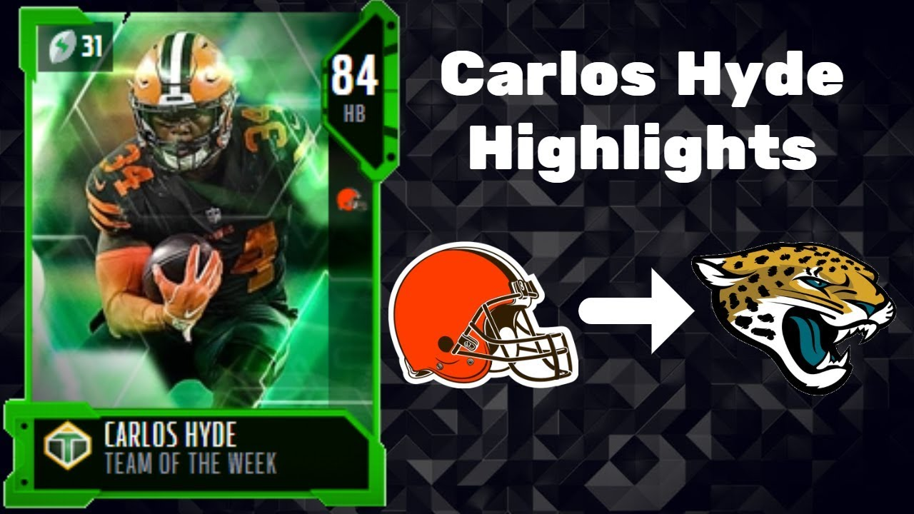 84 Carlos Hyde Highlights - Madden 19 ...