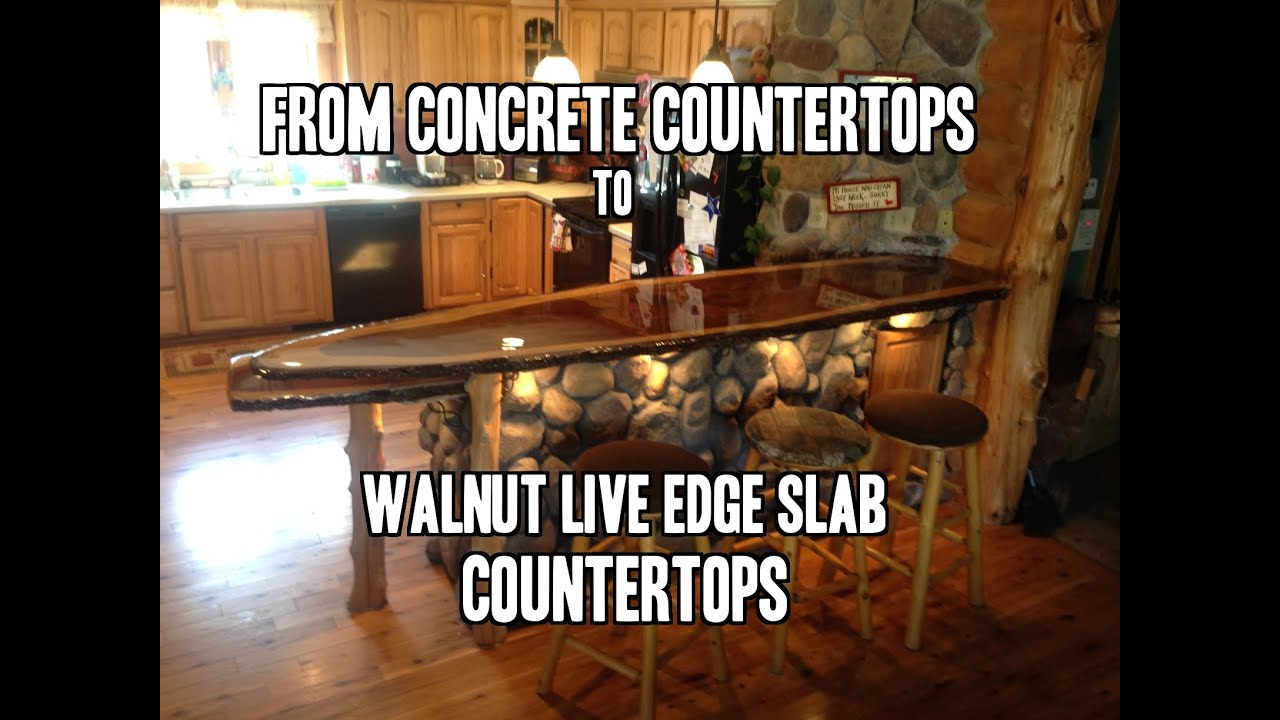 How To Install A Live Edge Slab Countertop   YouTube