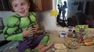 Almond Flour Pancakes  With The Hulk:)....paleo