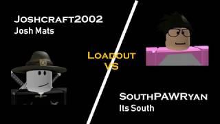 Joshcraft2002 vs SouthPAWRyan ? Batallas cargadas #1 Batallas de torre [ROBLOX]