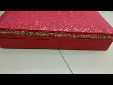 DIY😎😎Jewelry Box Waste Box/How to make jewelry box in waste cardboard box