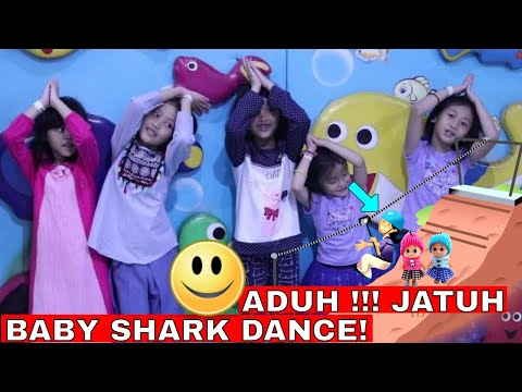 Aduh Niala Jatuh Flying fox + Baby Shark Dance Challenge Lifia Niala   Aurel Jihan dan Kanaya