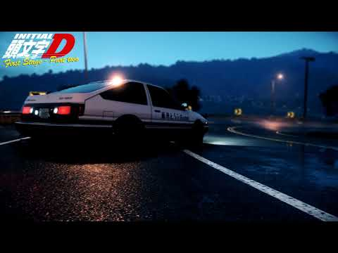 Initial D First Stage Eurobeat Mix, All Songs In The Correct Order [HD] [Part Two]