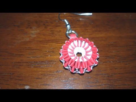 8. New Design Boondoggling variation Paper Weaving Earrings Tutorial