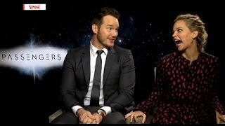 'Is It Going To Be Too Sexy?!' J Law & Chris Pratt Discuss Their Movie Sex Scene