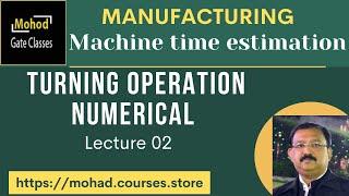Machine time estimation 02 Turning Numerical