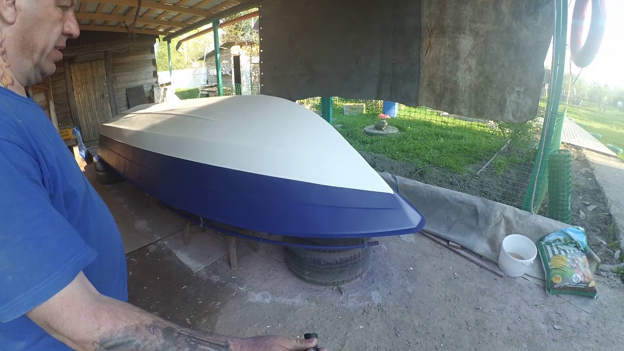 ремонт катера № 7 покраска бортов