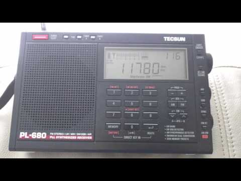 Radio National da Brasilia - Tecsun PL-680 - 11780 KHZ - 01:16 UTC