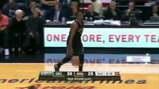 Repeat youtube video LeBron James vs Kevin Durant Miami Heat vs Oklahoma City Thunder NBA Game Highlights  4-4-2012