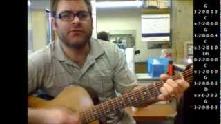 "How to play ""Just By Myself"" by Greg Brown on acoustic guitar"