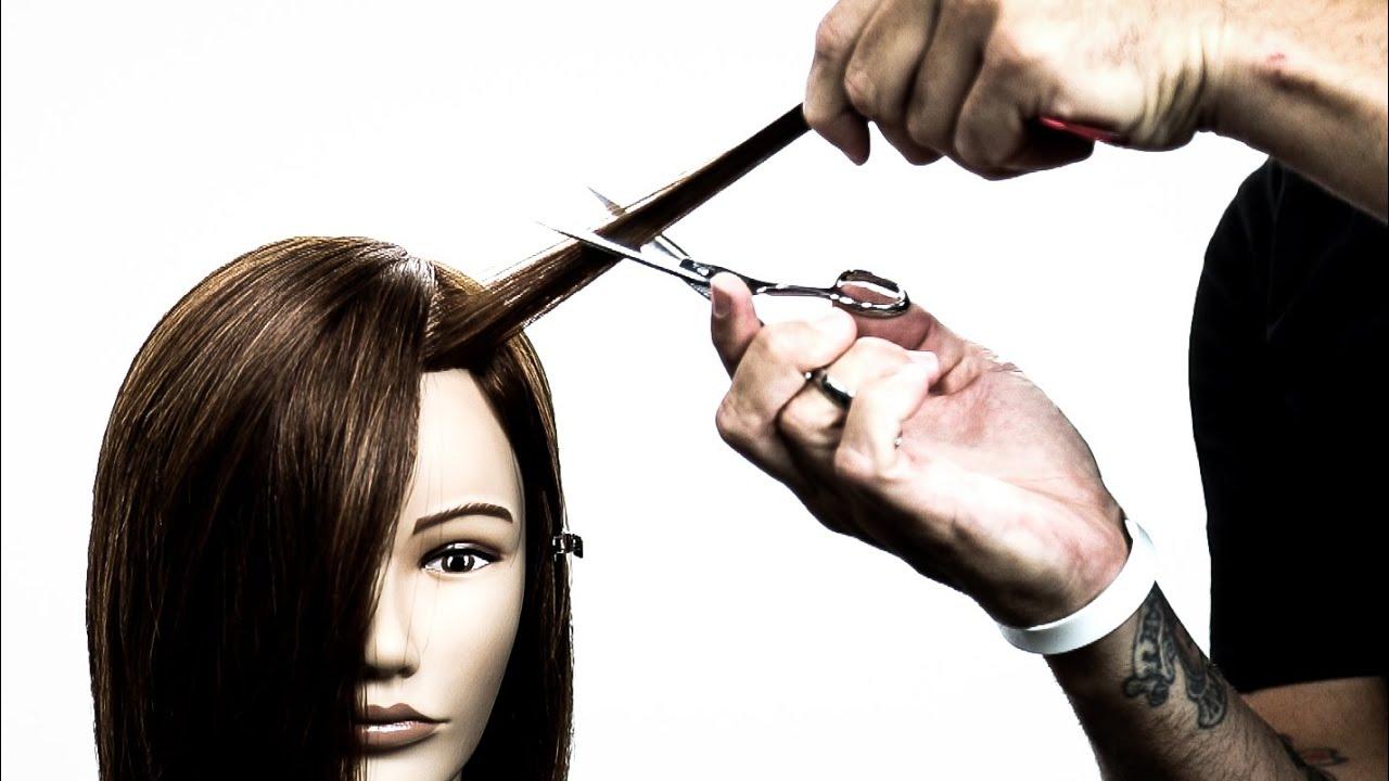 Cutting a Side Bang On Thick Hair | Hair Tutorial