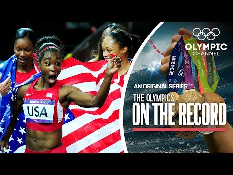 USA breaks 4x100M Women's Records In London 2012 | The Olympics On The Record